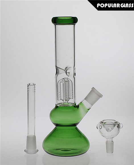 25cm tall Glass smoking water pipes diffusion perc Glass bongs Joint size 14.4mm