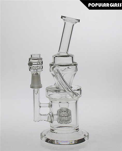 Barrel Recycler Rig With Matrix Perc Clear