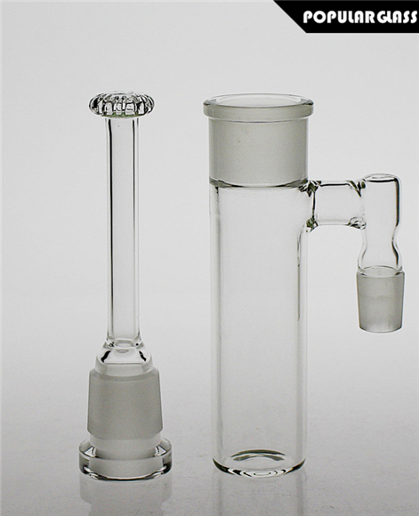 Glass Ash Catcher with Removable Showerhead Perc Clear
