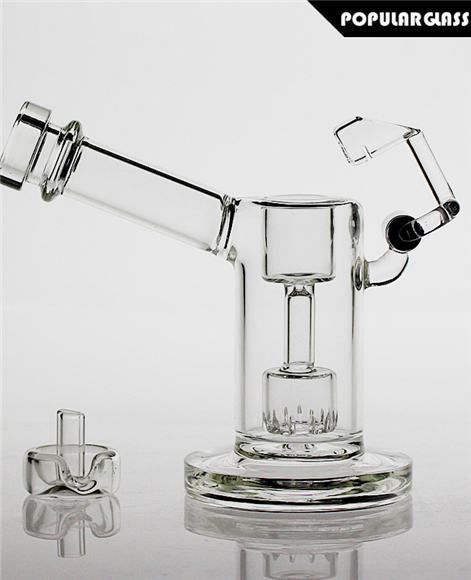 Mini Dab Rig with Quartz Honey Bucket Clear