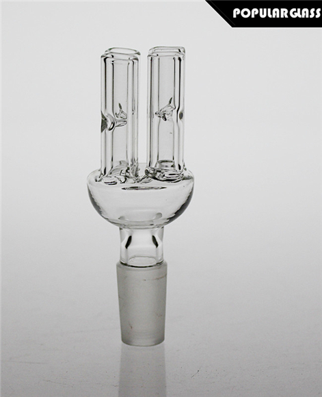 Glass Bowl With Tree Arms Male Joint 14.4mm 2Pcs/Lot
